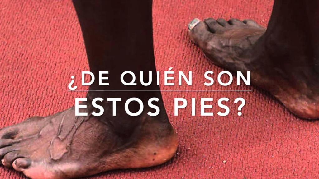 ¿De quién son estos pies?