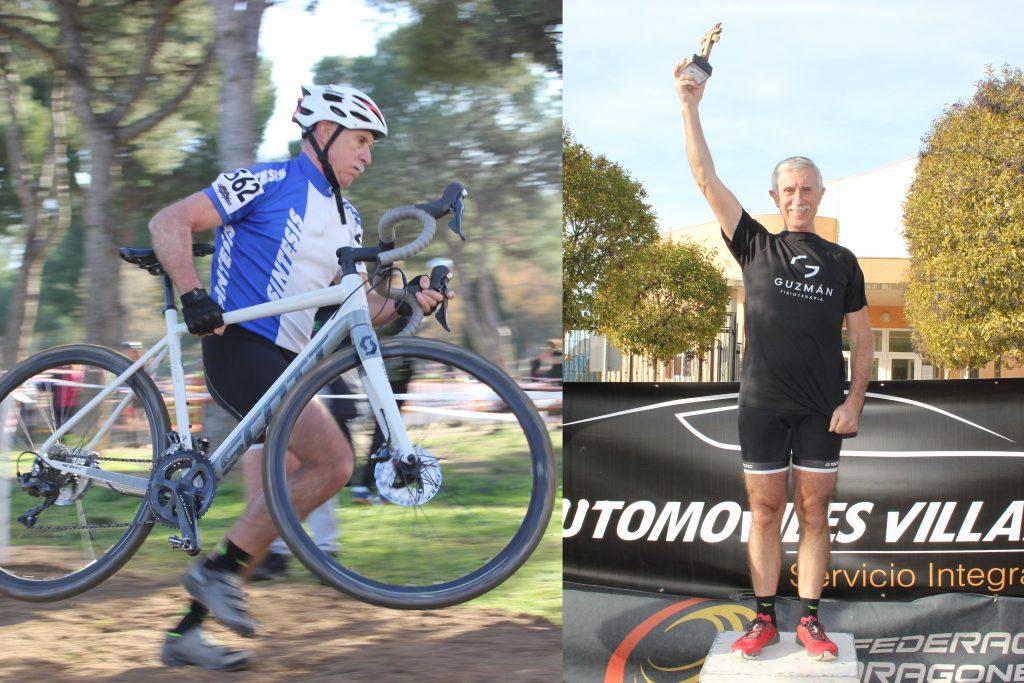 Emilio Guzmán, Campeón de Aragón 2018 de ciclocross, M60.