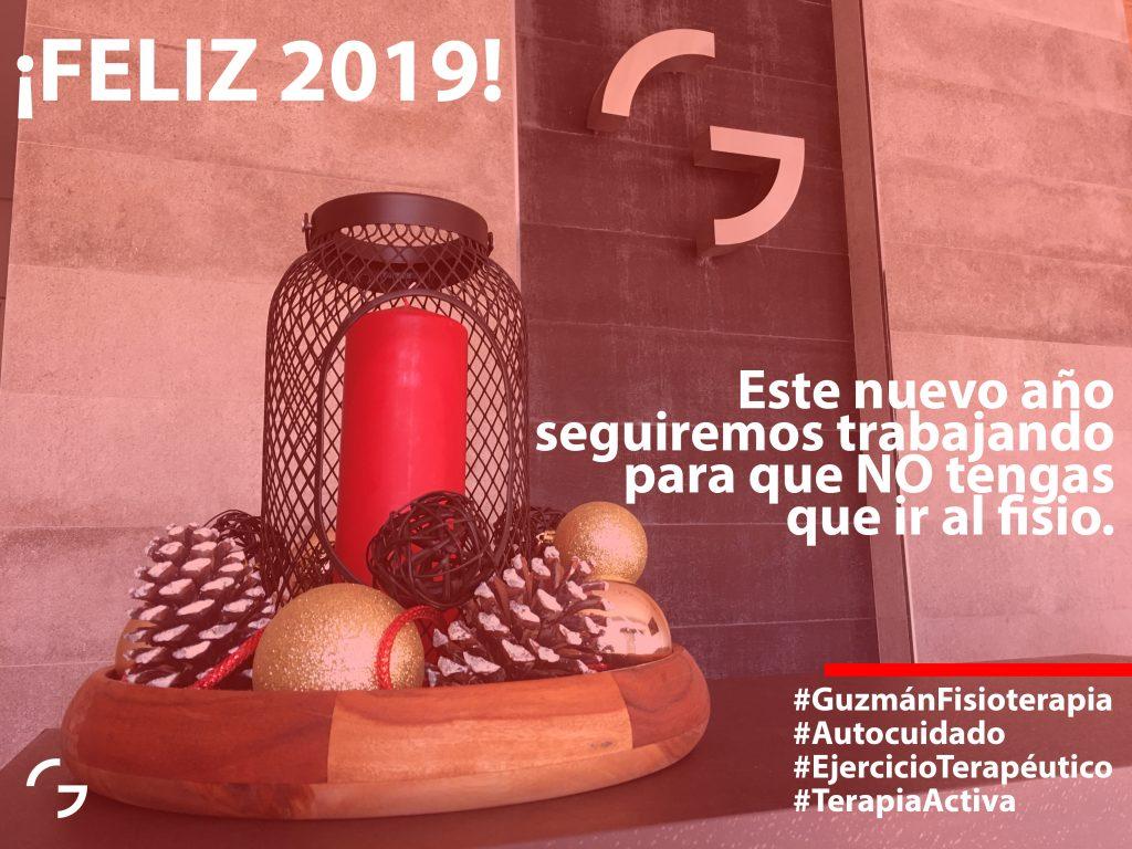 ¡FELIZ 2019! Este nuevo año seguiremos trabajando para que NO tengas que ir al fisio. #GuzmánFisioterapia #Autocuidado #EjercicioTerapéutico #TerapiaActiva Guzmán Fisioterapia Valdespartera Zaragoza